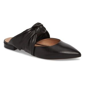 Lewit Black Twisted Leather Cara Mule